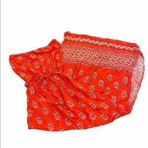 Strapless maxi dress bandana style